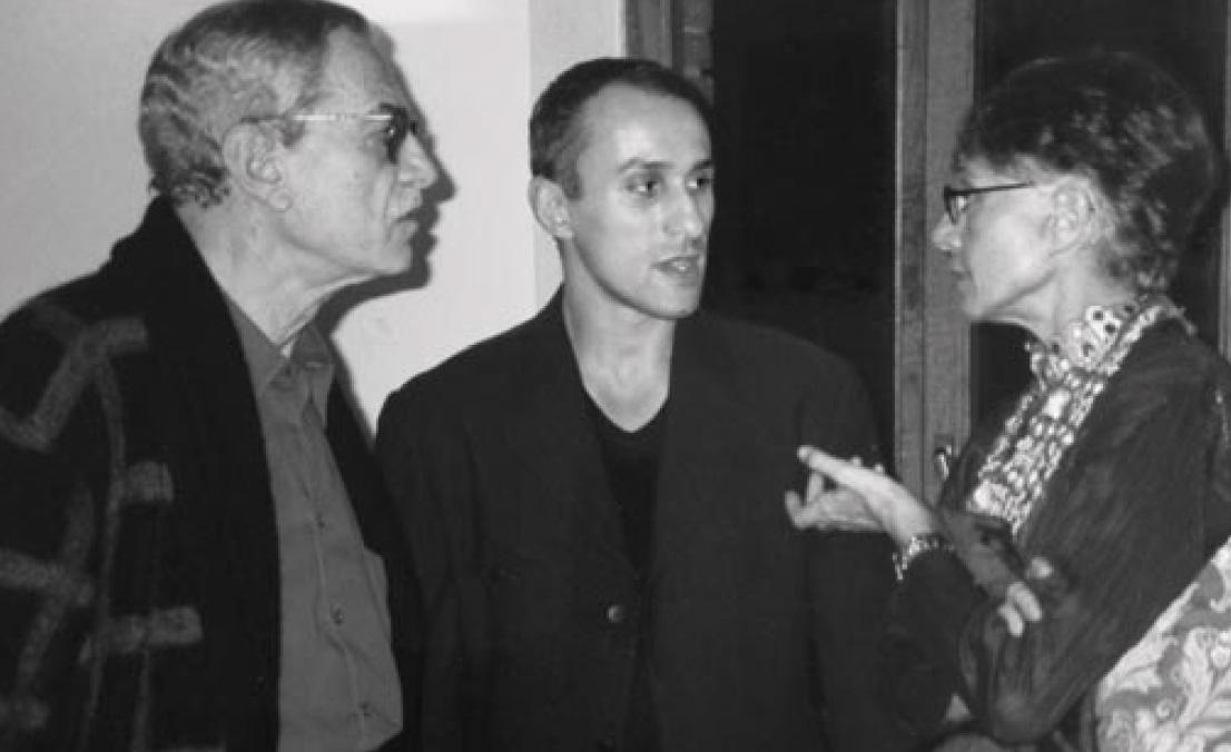 Siena 1998, con l'attore Nino Manfredi e la moglie Erminia